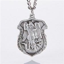 Personalized St Michael Law Enforcement Pendant - 11363