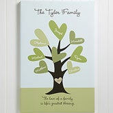 Personalized Family Tree Canvas Art - Leave Of Love - 11367