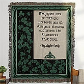 Irish Blessing Embroidered Afghan