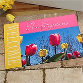 Personalized Spring Doormats - Tulips - 11392