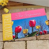 Personalized Spring Doormats - Tulips - 11392