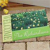 Personalized Doormats - Fields of Flowers - 11393