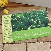 Personalized Doormats - Fields of Flowers - 11393