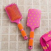 Paddle Hair Brush - Pink & Orange - 11407