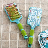 Paddle Hair Brush - Daisies - 11408