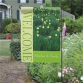 Personalized Garden Flags - Field Of Flowers - 11427