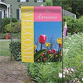 Personalized Garden Flag - Spring Tulips - 11428