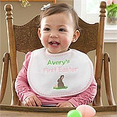 Girls Personalized Baby Bibs - My First Easter