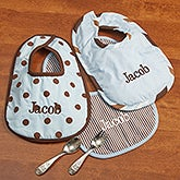 Personalized Baby Boy Bibs - Little Boy Blue - 11432