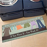 Personalized Laundry Room Oversized Mat - Laundry Time - 11439