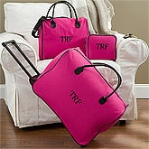 Personalized Women's Luggage Set - Pink 3-Piece Set - 11444