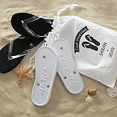 f0b8cc93a34c Just Married Bride and Groom Wedding Flip Flops - Customer Reviews