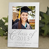 Engraved Silver Picture Frames - Graduation Class - 11454