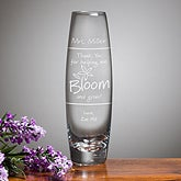 Personalized Teacher Appreciation Bud Vase - Bloom & Grow - 11463