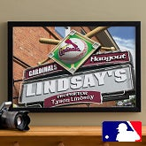 Personalized St. Louis Cardinals MLB Pub Sign Canvas Print - 11481