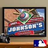 Personalized Chicago Cubs MLB Pub Sign Canvas Print - 11482