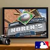 Personalized LA Dodgers MLB Pub Sign Canvas Print - 11484