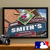 MLB Baseball Personalized Pub Sign Prints - Cleveland Indians - 16x24