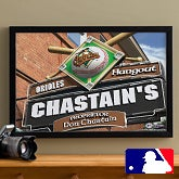 MLB Baseball Personalized Pub Sign Prints - Baltimore Orioles - 16x24