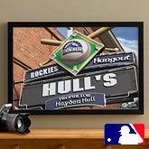 MLB Baseball Personalized Pub Sign Prints - Colorado Rockies - 16x24