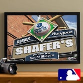 Personalized Kansas City Royals MLB Pub Sign Canvas Print - 11506