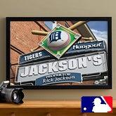MLB Baseball Personalized Pub Sign Prints - Detroit Tigers - 16x24