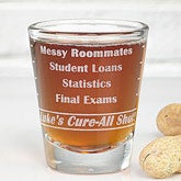 College Troubles© Personalized Shot Glass