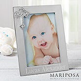 Engraved Silver Baby Picture Frames - Reed & Barton - 11517