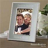 Engraved Silver Wedding Picture Frames - Reed & Barton - 11518