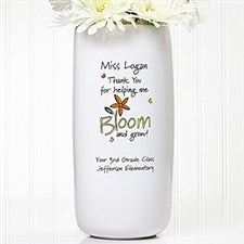 Personalized Teacher Vase - Bloom and Grow - 11521