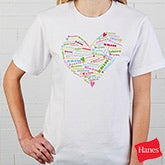 Personalized Womens Apparel - Heart Heart of Love - Black - 11522