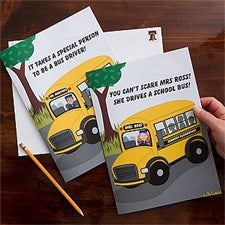 Personalized Bus Driver Greeting Cards - Oversized - 11526