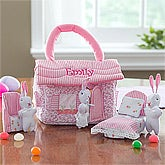 Personalized Easter Bunny Cottage Playset - 11529