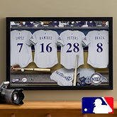 Personalized Milwaukee Brewers MLB Baseball Locker Room Canvas - 11533