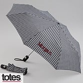Personalized Umbrella with Monogram - Hounds Tooth - 11535
