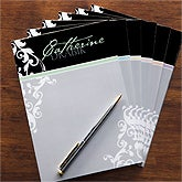 Personalized Notepads for Her - Damask - 11544