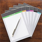 Personalized Notepads - Herringbone - 11545