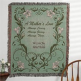 Personalized Tapestry Afghan for Mom - A Mother's Love - 11548