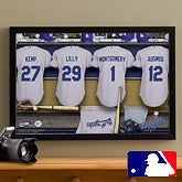 Personalized LA Dodgers MLB Baseball Locker Room Canvas - 11554