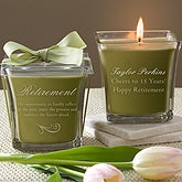 Personalized Candles - Happy Retirement - 11556