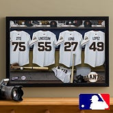 Personalized San Francisco Giants MLB Baseball Locker Room Canvas - 11559