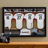 MLB Baseball Personalized Locker Room Canvas - Florida Marlins - 16x24