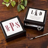 Personalized Keepsake Box for Men - Monogram - 11570