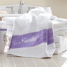 Personalized Bath Towels - Lavendar Spa - 11574