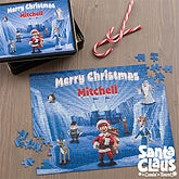 Personalized Christmas Puzzles - Santa Claus Is Comin' To Town - 11577