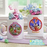 Personalized Peter Cottontail Easter Mugs - 11581