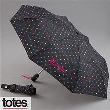 Personalized Umbrellas - Black Polka Dots - 11582