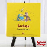 Curious George Personalized Canvas Art - 11586