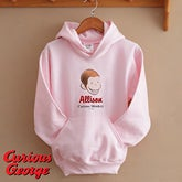 Personalized Girls Sweatshirts - Curious George - 11590