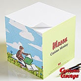 Personalized Curious George Papge Note Cube - 11594
